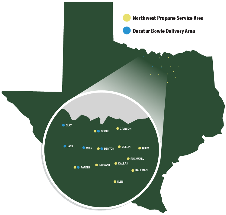 Northwest Propane Service Area Map